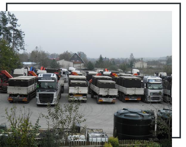 przewóz betonowych zbiorników na szambo